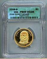 2008-S  $1 JOHN QUINCY ADAMS DOLLAR  ICG PF69 DCAM