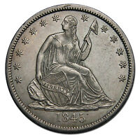 1845O SEATED SILVER LIBERTY HALF DOLLAR 50 COIN LOT MZ 1000