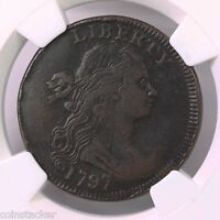 1797 DRAPED BUST 1C STEMS REV OF 97 S-140 NGC CERTIFIED VF 25 BN COPPER CENT