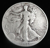1940-S WALKING LIBERTY SILVER HALF DOLLAR. COLLECTOR COIN 4 YOUR SET. COLLECTION