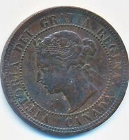 CANADIAN LARGE ONE CENT COIN   1891   SMALL LEAF