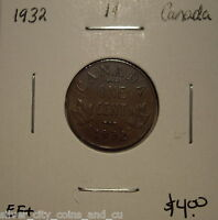 CANADA GEORGE V 1932 SMALL CENT   EF