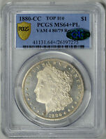 1880 CC  R78  PCGS  MS64PL  CAC     IN PROOF LIKE    26197275