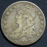 1808 CAPPED BUST HALF DOLLAR O 108 R3  EARLY YEAR VARIETY