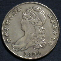 1808 CAPPED BUST HALF DOLLAR O 110 R5  EARLY YEAR VARIETY HIGHER GRADE