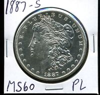 1887-S $1 MORGAN SILVER DOLLAR IN UNCIRCULATED PROOF-LIKE CONDITION