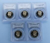 1995 S PCGS PR69 D CAM KENNEDY HALF DOLLAR LOT OF 5 COINS 5 GEM COINS TOTAL