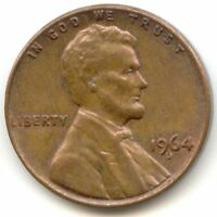 USA 1964D ONE CENT PENNY 1 C 1964 D 1C AMERICAN EXACT COIN