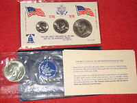 1972 S EISENHOWER DOLLAR 40 SILVER MINT AND 1976 D EISENHOWER SET   2 SETS