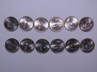 2009 WASHINGTON DC & TERRITORIES QUARTER YEAR SET   12 COIN P&D FROM UNC ROLLS