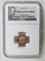2014 S PROOF LINCOLN SHIELD CENT/PENNY   NGC PF 70 RED ULTRA CAMEO 003