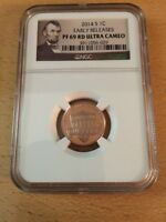 2014S 1 CENT NGC CERTIFIED EARLY RELEASES   PF69 RD ULTRA CAMEO LINCOLN LABEL
