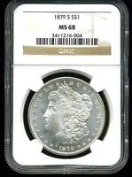 1879-S $1 MORGAN SILVER DOLLAR MINT STATE 68 NGC