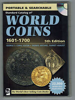 STANDARD CATALOG OF WORLD COINS 1601 1700 5TH EDITION SEARCHABLE DVD BY KRAUSE