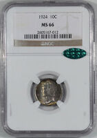 1924 MERCURY DIME NGC MS 66 PRETTY CAC APPROVED