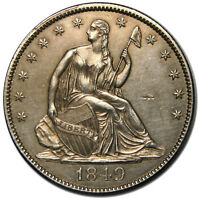 1849 SEATED SILVER LIBERTY HALF DOLLAR 50 COIN LOT MZ 2150
