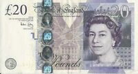BRITISH 20 POUNDS BANKNOTE REAL CURRENCY YOU WILL RECEIVE THE NOTE IN PICTURE