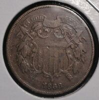 1868 2 CENT PIECE. SUPER  COLLECTOR COIN FOR YOUR COLLECTION OR SET. LOOK