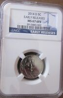 2014 D JEFFERSON NICKEL NGC MS67 6FS EARLY RELEASES ER
