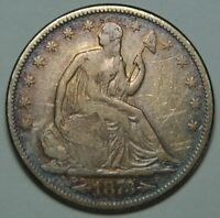 1873S SEATED SILVER LIBERTY HALF DOLLAR 50 COIN LOT MZ 2290