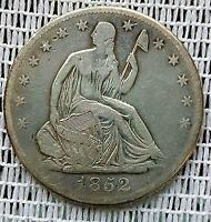 1852 O 50C LIBERTY SEATED HALF DOLLAR GOOD NEW ORLEANS