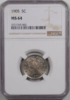 1905 LIBERTY NICKEL NGC MINT STATE 64