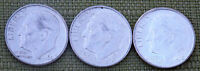 1960 D   1961 D AND 1962 D ROOSEVELT DIMES NICE COINS EF OR BETTER