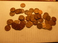 32 ROLLS 1958 P LINCOLN WHEAT CENT PENNY ROLL 1600 CIRCULATED PENNIES LOT COINS