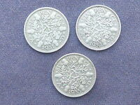 1931 1932 1933 .500 SILVER 6D SIXPENCES