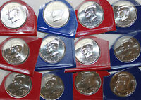 2010 2011 2012 2013 2014 2015 KENNEDY P AND D UNC LOT HALF DOLLAR 12 BU 50C COIN