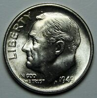 1949S KEY DATE ROOSEVELT COIN SILVER DIME LOT  A 1361
