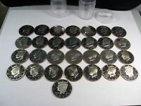 28 LIGHTLY CIRCULATED PROOF CLAD US HALF DOLLARS. 1995 S TO 2013 S W/ 2012 S