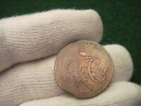 1790'S HALF PENNY CASTLE'S CHESTER TWO PLANCHET CLIPS COLONIAL COIN CONDER TOKEN