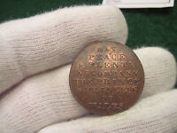 1790'S HALF PENNY MIDDLESEX DH 923 HIGH GRADE LUSTER CONDER TOKEN COLONIAL COIN