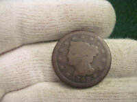 1848 LARGE CENT BRAIDED HAIR TYPE COIN