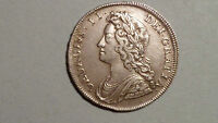 1731 HALF CROWN   R&P   GEORGE 11  1727 1754   EARLY MILLED SILVER   HIGH GRADE