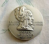 EMMA WILLARD 1787 1870 SILVER MEDAL THE HALL OF FAME FOR GREAT AMERICANSAT NYU