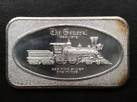 1972 MADISON MINT THE GENERAL TRAIN MAD 9 SILVER ART BAR A1736