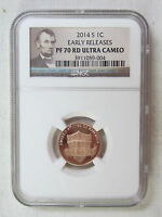 2014 S PROOF LINCOLN SHIELD CENT   EARLY RELEASES   NGC PF 70 RED ULTRA CAMEO