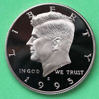 1995 S PROOF KENNEDY HALF DOLLAR COIN 50 CENT JFK FROM PROOF SET