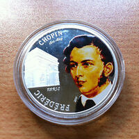 REPUBLIC OF PALAU $1 DOLLAR 2010 FREDERIC CHOPIN PARIS 1810 1849 GEDENKMNZE