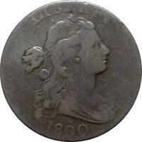 1800 DRAPED BUST CENT  ATTRACTIVE FINE