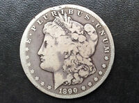 1890 CC MORGAN SILVER DOLLAR CARSON CITY MINT U.S. COIN A1849