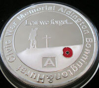 2016 ALDINGTON WAR MEMORIAL POPPY MEDALLION LEST WE FORGET LIMIT 2000