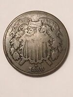 1868 TWO CENT COIN VG