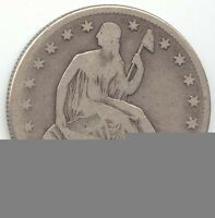 1853 O SEATED LIBERTY HALF DOLLAR ARROWS AND RAYS PROBLEM FREE G VG