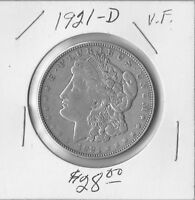 1921 D  MORGAN SILVER DOLLARS   NICE COINS HIGHER GRADE I DO NOT GRADE COINS