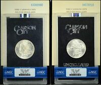 PAIR OF GSA MORGAN DOLLARS GRADED MS62   1883 84 CARSON CITY    2