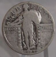 1927 STANDING LIBERTY SILVER QUARTER. COLLECTOR COIN FOR YOUR COLLECTION OR SET.