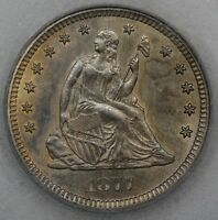 KEY 1877 CC SEATED LIBERTY QUARTER CHOICE BU